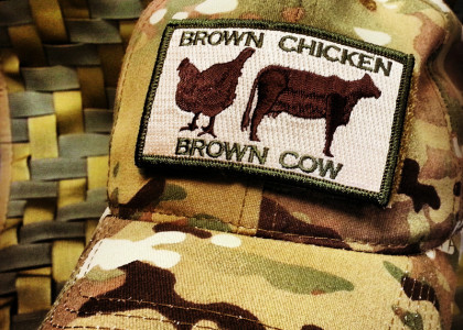 Brown Chicken Brown Cow Morale Patch Meaning