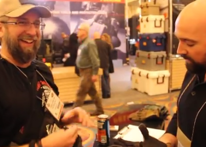 [VIDEO] TJ Visits the PIG Gloves Booth at SHOT Show 2015
