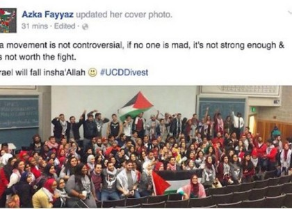 Pro-Palestinian students heckle Cal-Davis opponents with cries of 'Allahu Akbar!'
