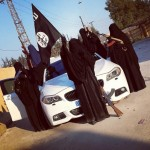 "ISIS Chicks Show Off Their ""Five Star Jihad"" Lifestyle By Posing On A BMW M5 Toting AK-47s"
