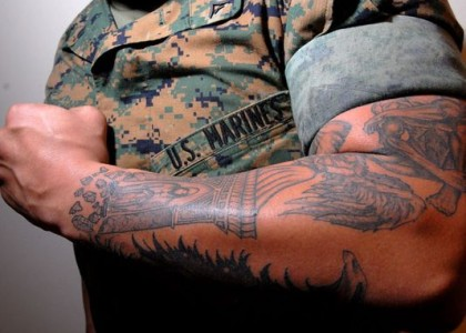Marine leaders to review controversial tattoo policy
