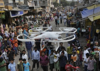 Security from the sky: Indian city to use pepper-spray drones for crowd control
