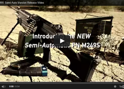 FN Launches Semi Auto SAW M249 Replica at NRA Show (LEAKED Video)
