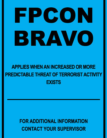 US Military Goes to Threat Level FPCON BRAVO Nation Wide