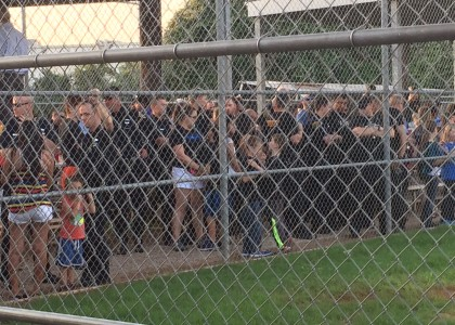 Thin Blue Line supporting child of fallen Brother