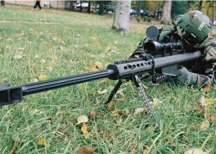 50 BMG Sniper Takes out bad Guy in Texas