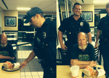 2 Coral Springs Police officers donate Arby's meals to homeless man