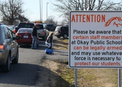 Some Oklahoma schools display signs warning staffers could be armed