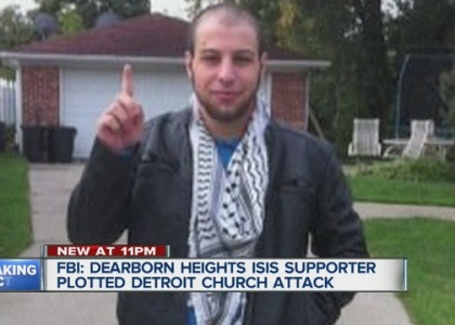 FBI says Michigan man pledged support to ISIS, Terrorist attack stopped by by his father