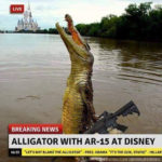 Radicalized Disneyland Gator With Ties to ISIS Spotted with AR15, Now Hunted