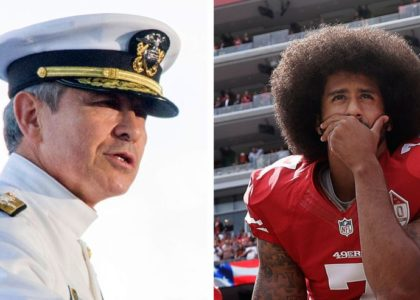 US admiral calls out Colin Kaepernick for Anthem protest