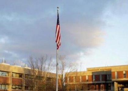 Hampshire College returns US flag to full staff