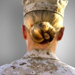 3 female enlisted Marines reporting for infantry duty