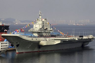 Taiwan scrambles jets as China aircraft carrier enters Taiwan Strait