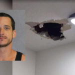 Suspect escapes though hole in police station ceiling