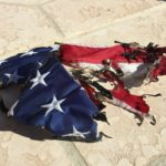 Marine's American flag set on fire in act of vandalism