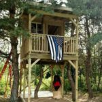 Officers Finish Tree House For Their Fallen Comrade