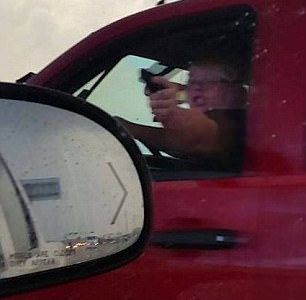 "Crazy Texan Points ""Gun"" at other Drivers!"