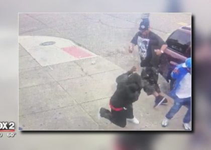 CPL holder unloads on armed robber caught on video