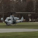 Attack Helicopter used to retrieve cell phone!