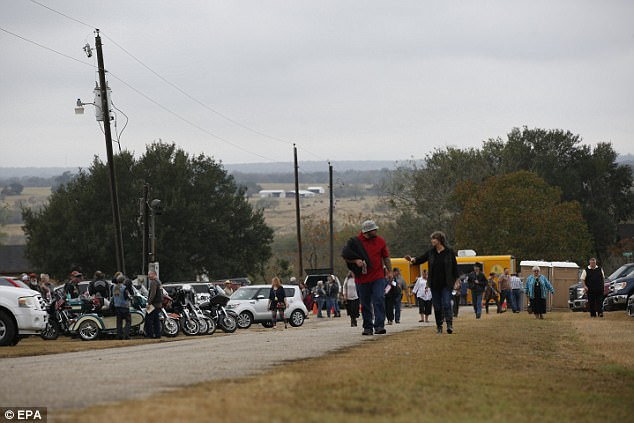 Hundreds descend on small Texas town for Sunday service one week after deadly shooting massacre