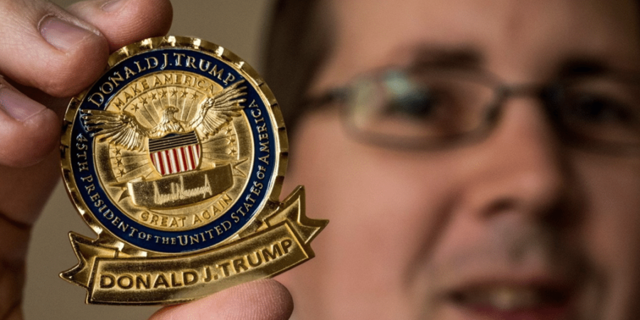 Trump's Official Presidential Challenge Coin Has Been Made!