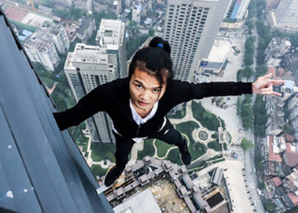 Watch What happens when a youbtuber films himself doing pullups on a 62 story building!