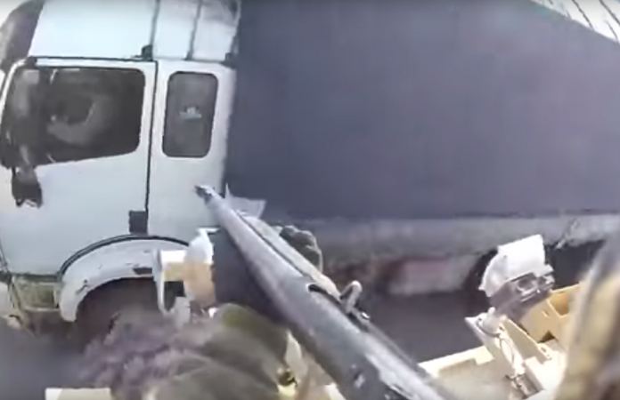 Shocking Video: Shows U.S. Military Member Shooting Into Civilian Truck!