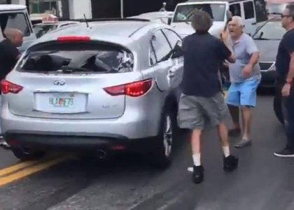 Old man puts the hammer down on hit and run driver!