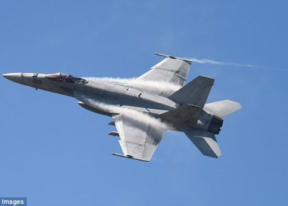 United States Navy F-18 fighter jet plummets into the ocean' near Key West!