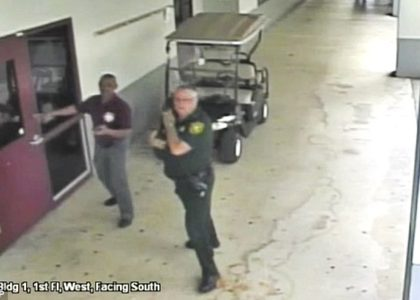 CCTV Footage of Broward County Sheriff Being A Coward Released!