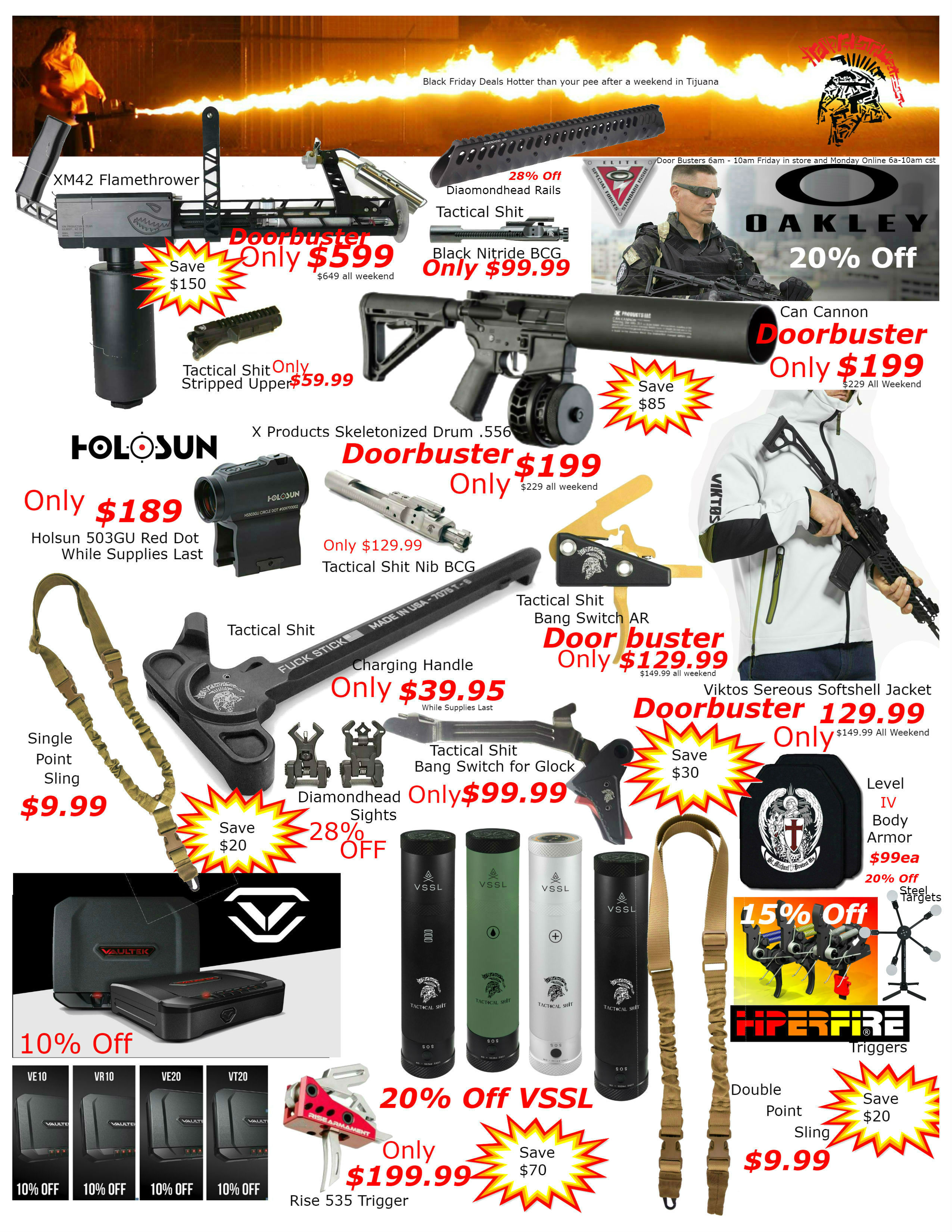 Black Friday Cyber Monday Flyer Final Side 1 Rev4 Tactical Sh T