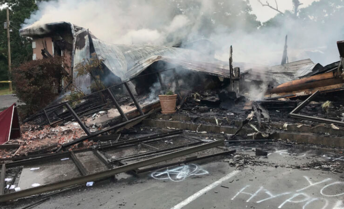 Church that defied stay-at-home orders burned to the ground