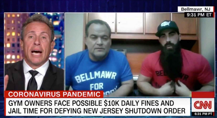 New Jersey gym owner drops F-bomb in heated Chris Cuomo interview