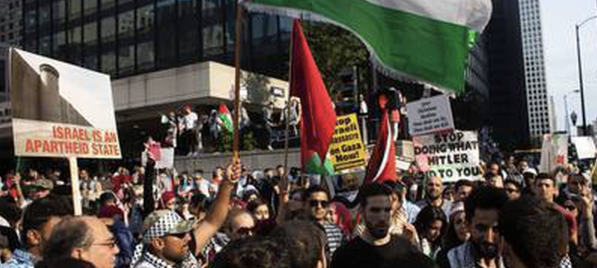 THOUSANDS Protest in Chicago Chanting Death To Israel (VIDEO)